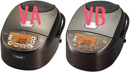 NW-VA10とNW-VB10の違いの比較